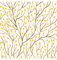 beautiful seamless pattern with tree branches and vector image