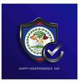 belize independence day shield background vector image