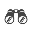 binoculars bold black silhouette icon isolated vector image vector image