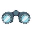 binoculars explorer icon cartoon style vector image vector image
