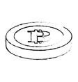 bitcoin icon digital money symbol vector image