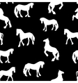 Black Horse Silhouette Seamless Pattern vector image