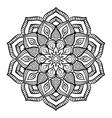 Black Mandala Coloring Page vector image
