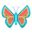 Blue and red butterfly icon cartoon style vector image vector image