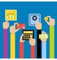 Business hands money vector image vector image