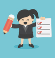 business woman Checklist vector image vector image