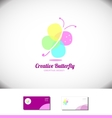 Butterfly spa beauty salon logo vector image vector image