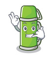 call me thermos character cartoon style vector image vector image