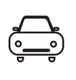 car front icon isolated on white background vector image