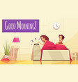 cartoon morning backround vector image vector image