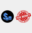 cash icon and grunge for money watermark vector image vector image