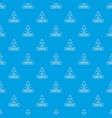 chair home pattern seamless blue vector image vector image