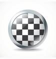 Checkered Race flag button vector image vector image
