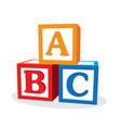 children abc letter blocks