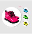 colored baby boots vector image