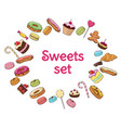 colorful sweet products set vector image vector image