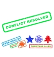 Conflict Resolved Rubber Stamp vector image vector image