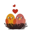 cute birds decorative card vector image vector image