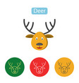 deer icon christmas reindeer image vector image
