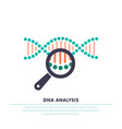 Dna analysis genetics testing dna chain in vector image