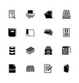 document - flat icons vector image vector image