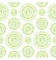 Dots circles seamless pattern in shades of green vector image vector image