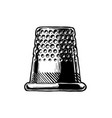 drawing of thimble vector image vector image
