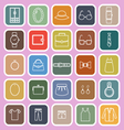 Dressing line flat icons on pink background vector image vector image