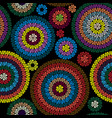 embroidery seamless pattern ornament with colored vector image