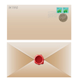 envelope brown vector image vector image