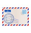 envelope with venice italy postmark vector image vector image