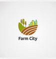 farm city logo icon element and template for vector image vector image