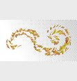 flying autumn leaves vector image