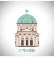 frederiks church in copenhagen denmark vector image