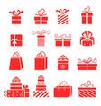 gift icons collection for birthday vector image vector image