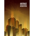 Gold city skyline at night Graphical urban vector image