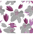 grey lily pattern vector image