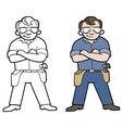 Hamdyman Cartoon vector image