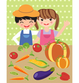 Happy harvest vector image vector image