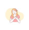 happy person body language movement concept vector image vector image