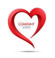 heart logo icon symbol vector image vector image