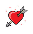 heart with arrow icon on white background for vector image