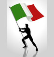 italy flag bearer vector image