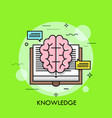 knowledge thin line concept vector image vector image