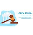 law school jurisprudence education web banner vector image vector image
