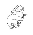 little piglet with the curly tail sleeping vector image vector image
