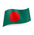 national flag of bangladesh big red circle vector image vector image