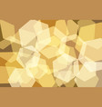 orangeyellow gold hexagon abstract background vector image vector image