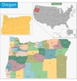Oregon map vector image