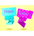 Origami Happy Easter card vector image vector image